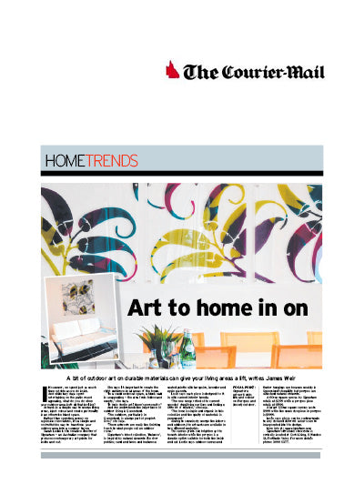 signarture featured in Brisbane courier mail