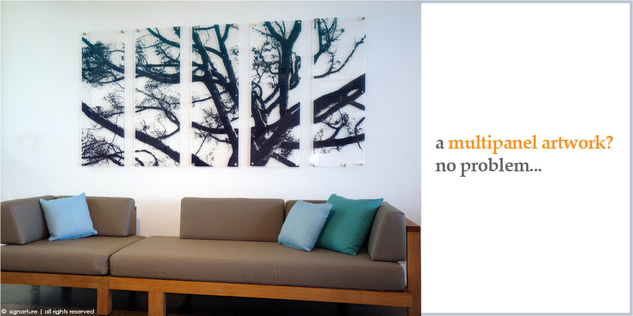 signarture artworks can be created as diptych, triptych, polyptych or multiple panel artworks to suit your preference