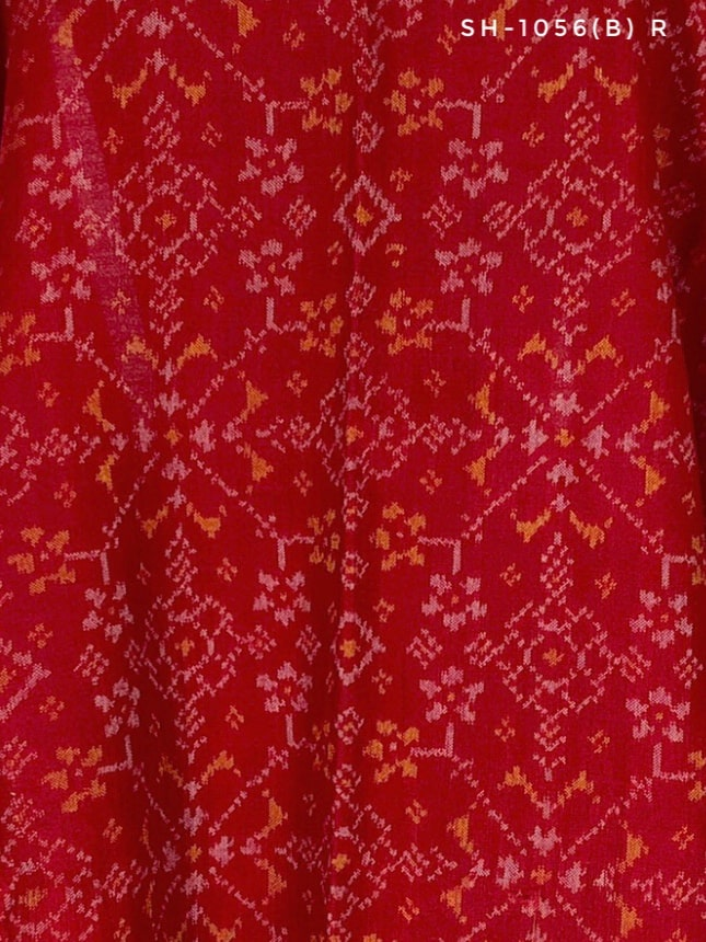Red navratna patola shawl