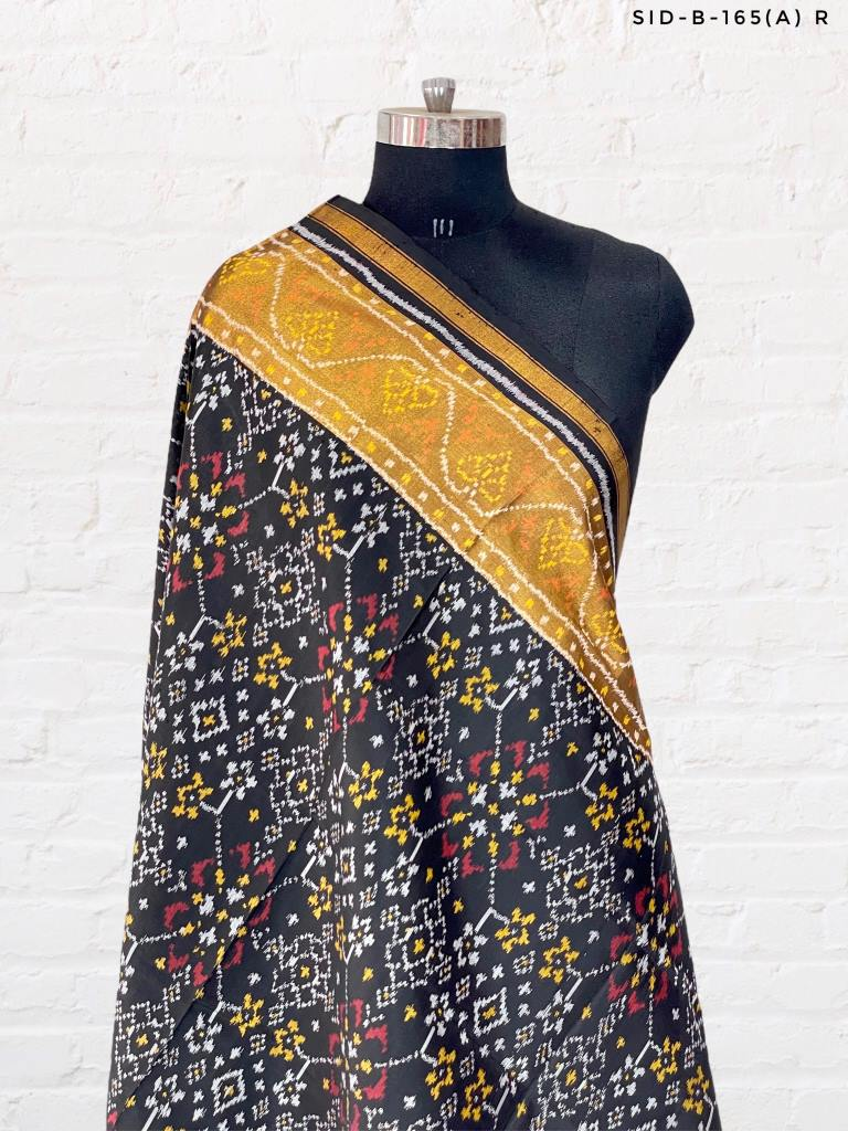 Black Patola Dupatta with Navratna Design