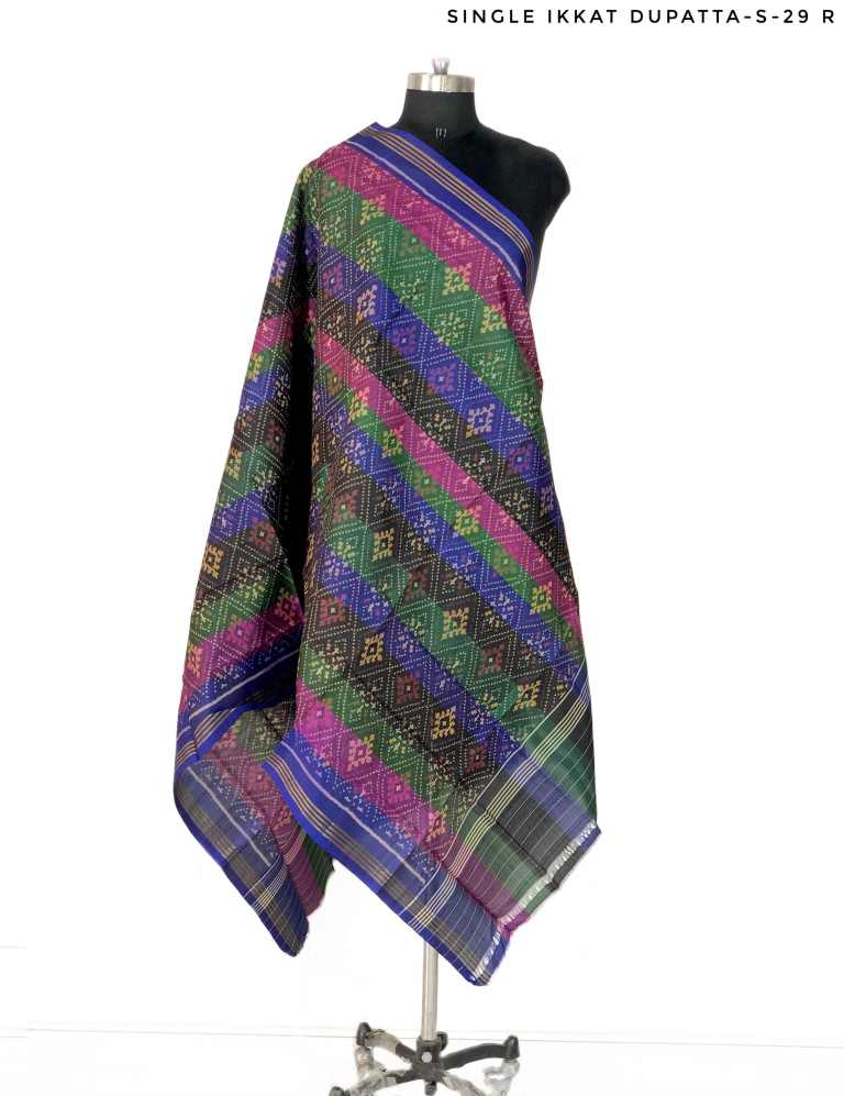 Multi colour Patola Dupatta with Panchnda Design