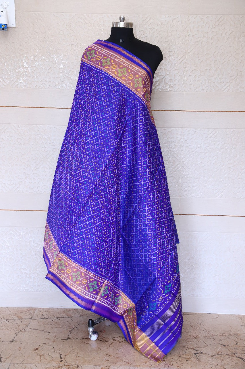Patola Dupatta in blue colour