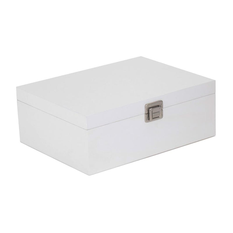 White Wooden Storage Box