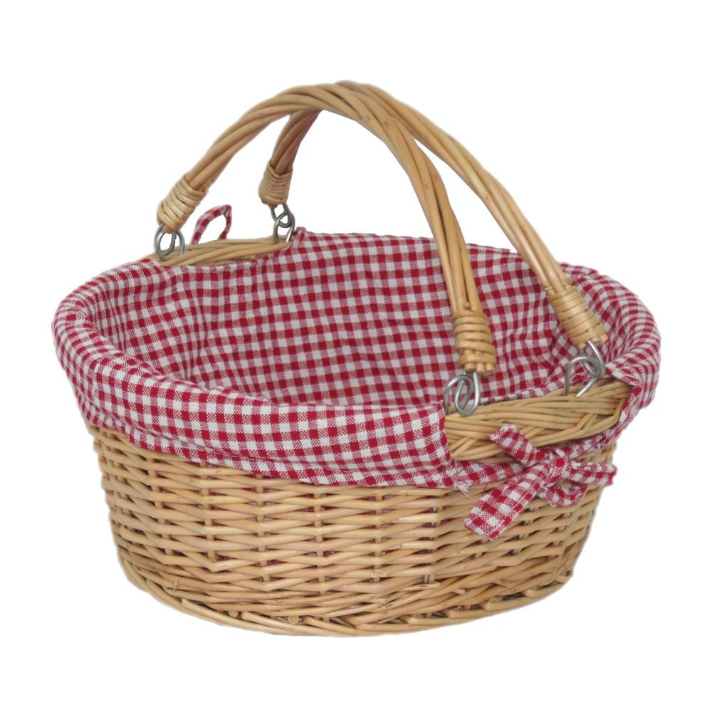 Large Swing Handle Wicker Shopping Basket