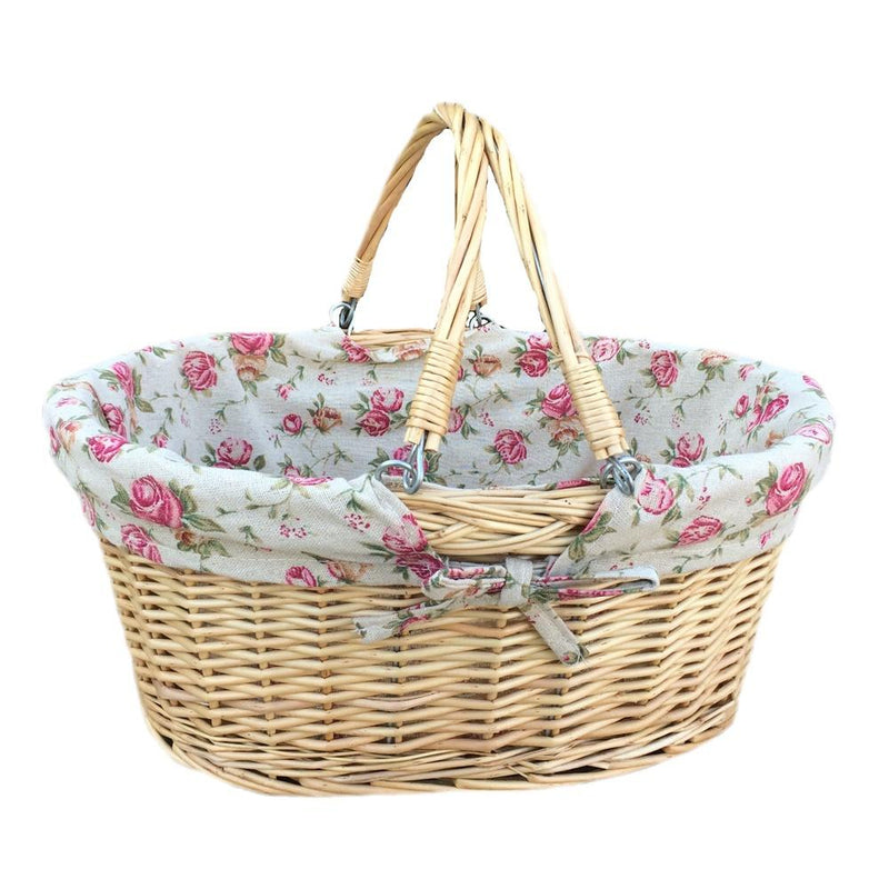 Medium Swing Handle Wicker Shopping Basket