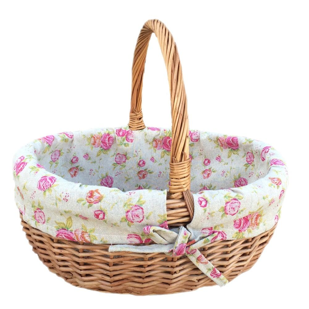Small Deluxe Wicker Shopping Basket