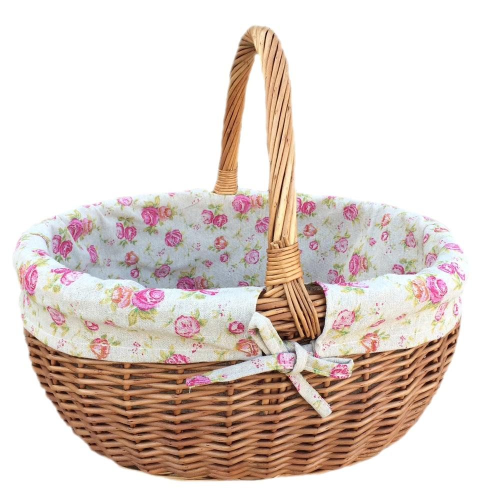 Large Deluxe Wicker Shopping Basket