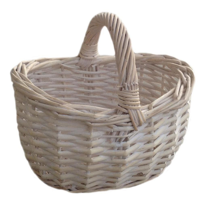 Shopping Basket Small White Shopper