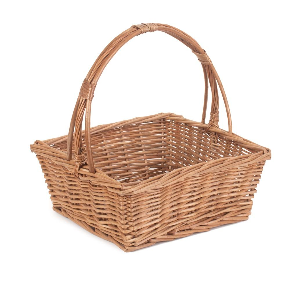 Square Fruit Wicker Basket