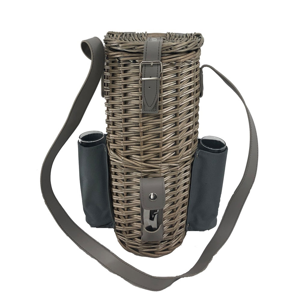 Single Bottle and 2 Champagne Glass Carrier With Shoulder Strap