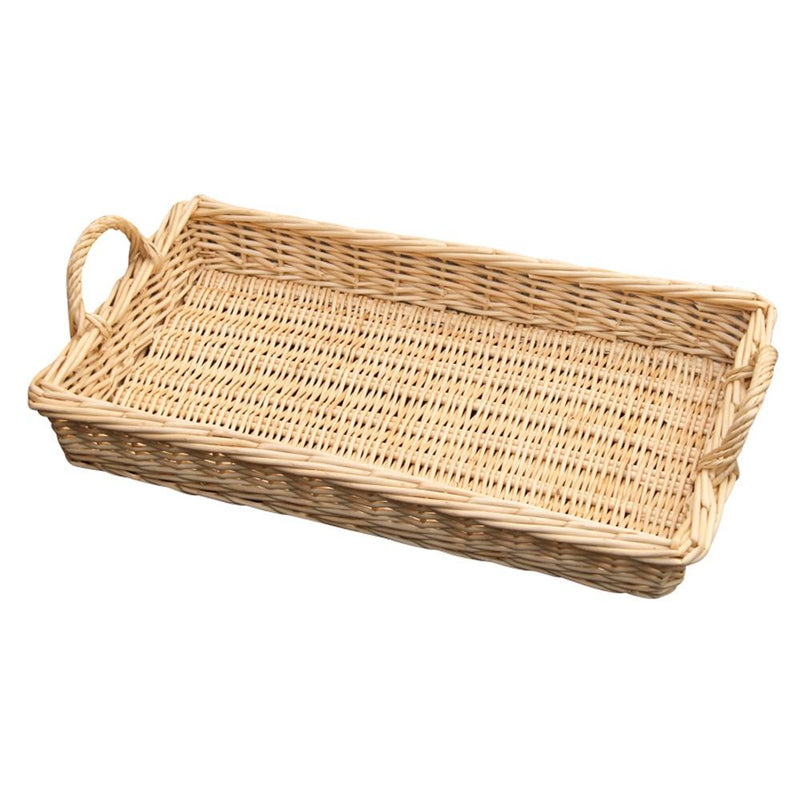 Large Wicker Caterers Serving Tray