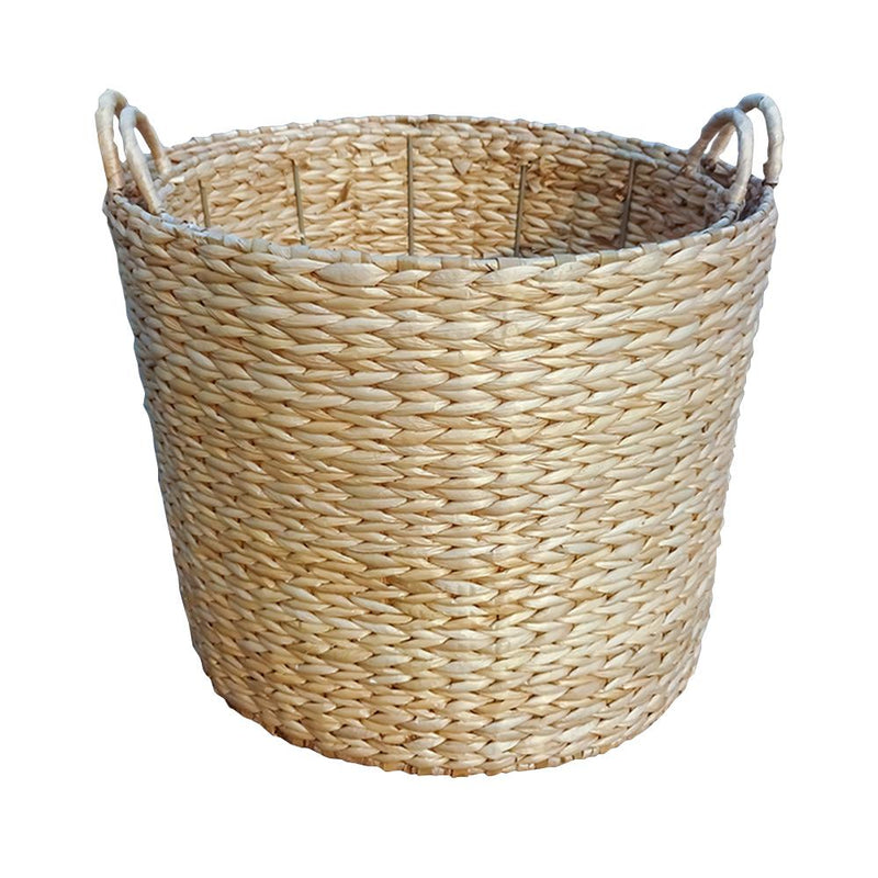 Round Water Hyacinth Storage Baskets