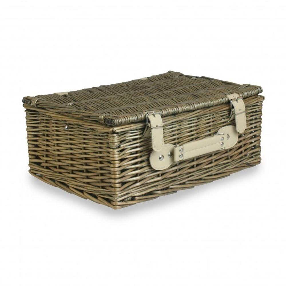 Antique Wash Finish Picnic Basket
