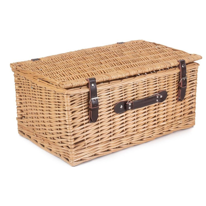 55cm Buff Empty Picnic Basket