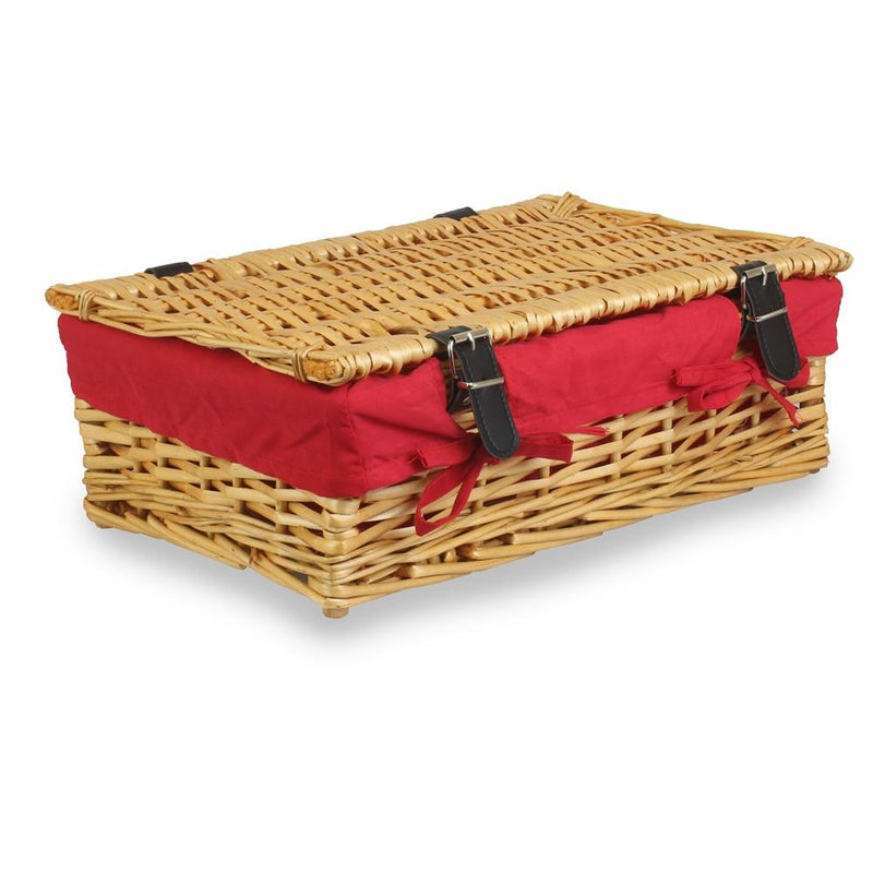40cm Empty Wicker Rectangular Gift Basket