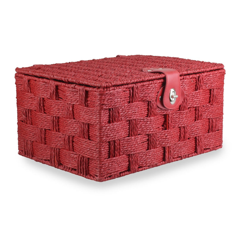 Twisted Red Paper Rope Hamper Basket
