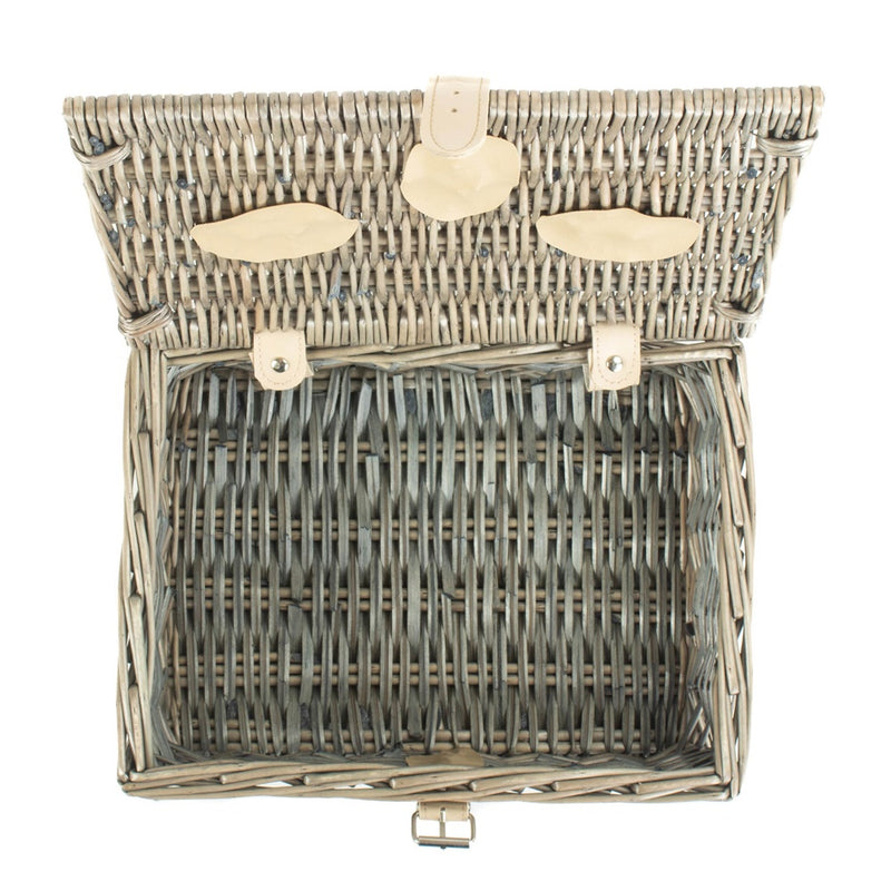 30cm Antique Wash Split Willow Wicker Basket
