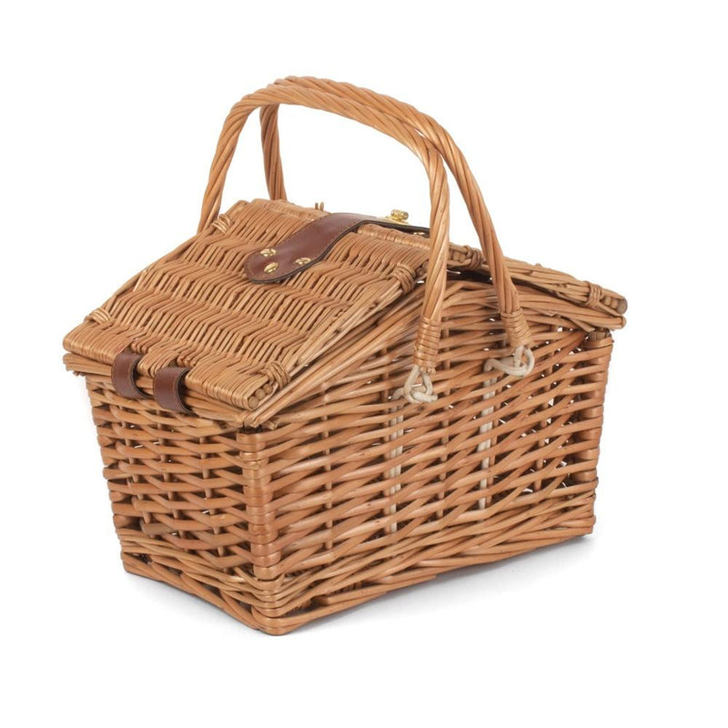 Light Steamed Swing Handle Hamper Picnic Basket