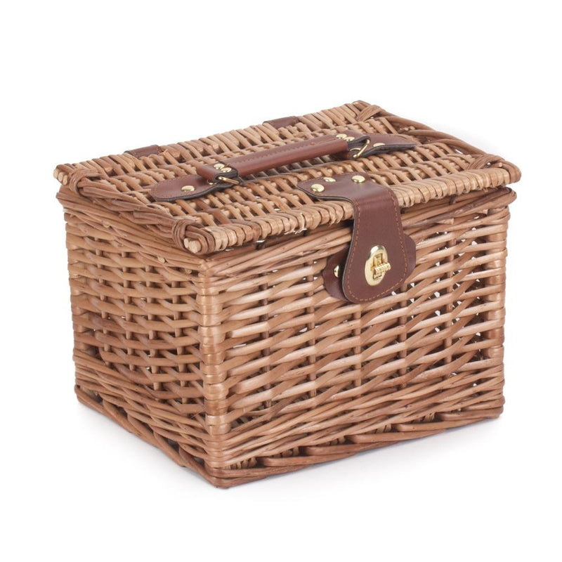 Light Steamed Wicker Small Chest Hamper