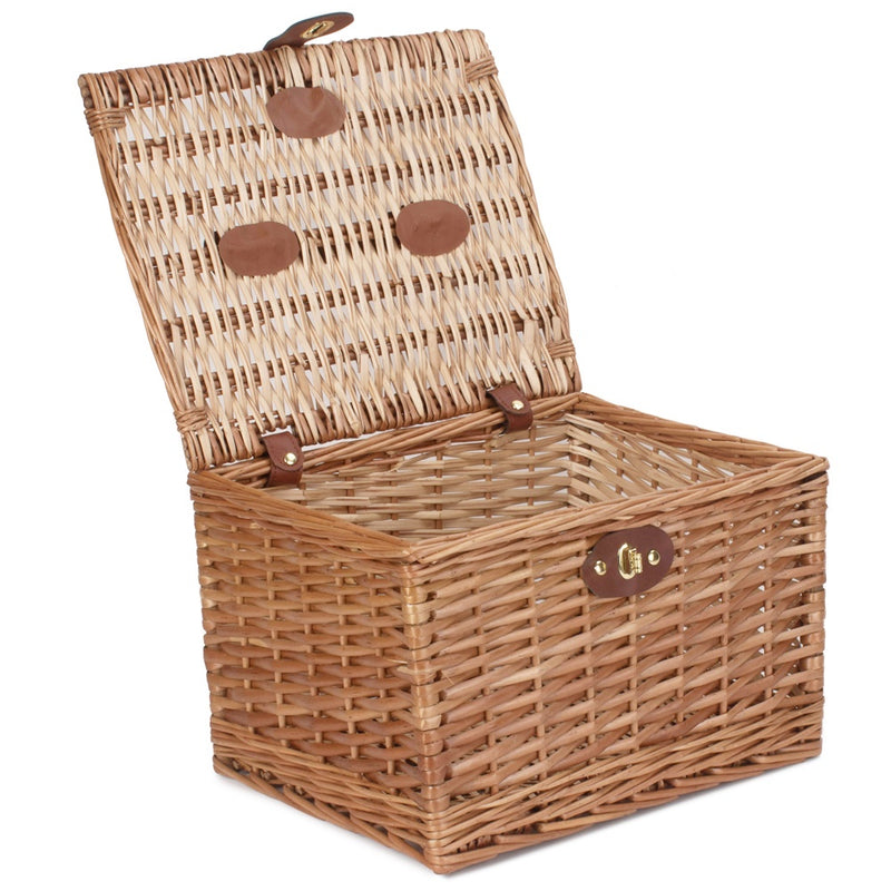 Light Steamed 35cm Wicker Chest Hamper