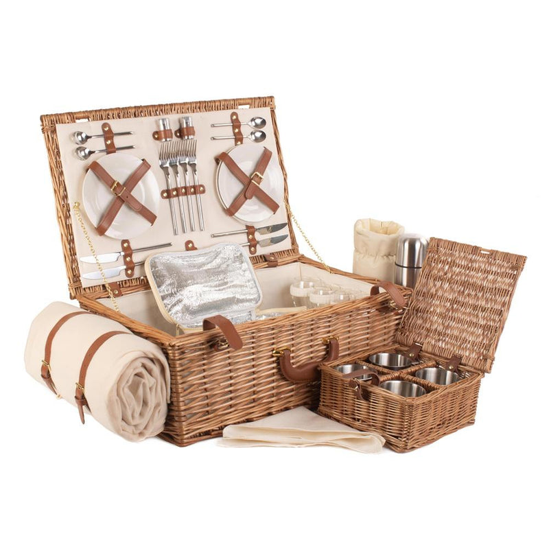 Deluxe Fully Fitted Traditional Picnic Basket