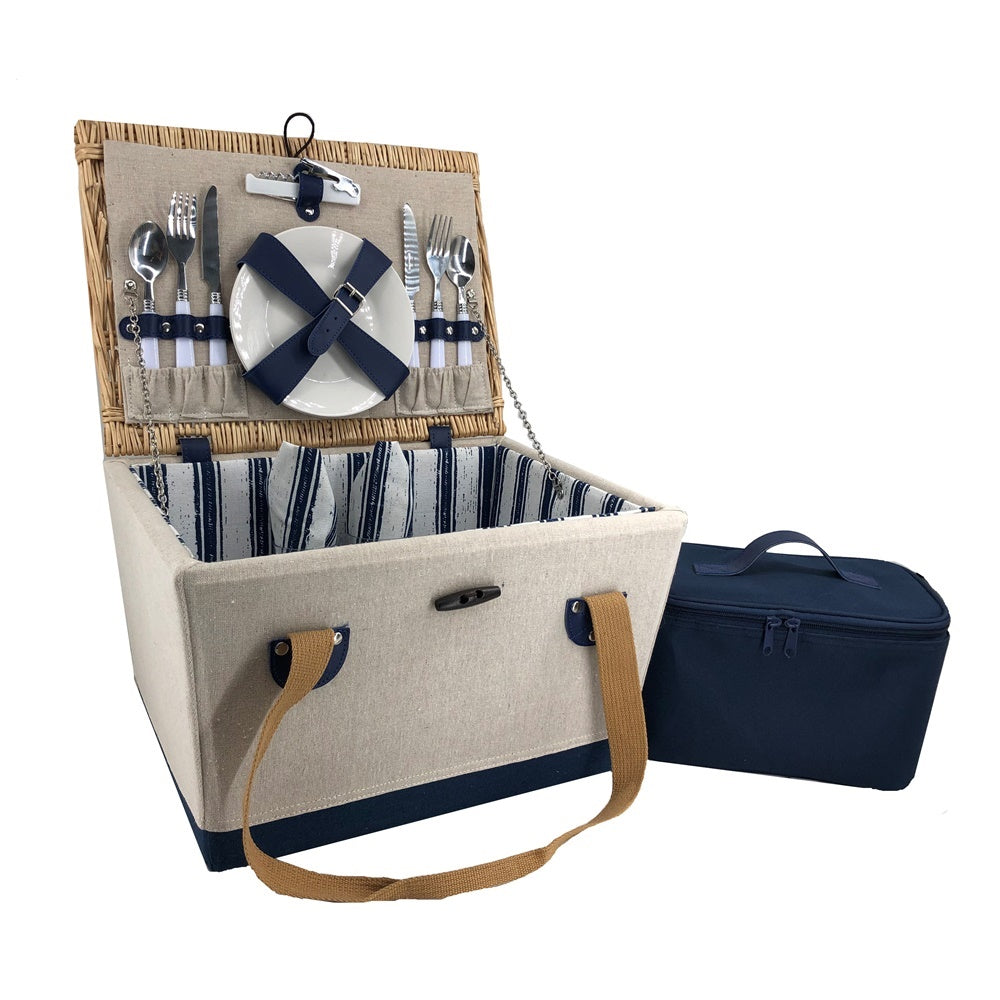 2 Person Nautical Fitted Picnic Basket