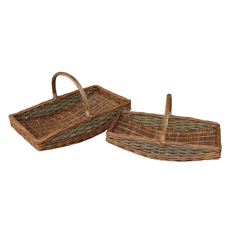 Unpeeled Willow Garden Trug Basket