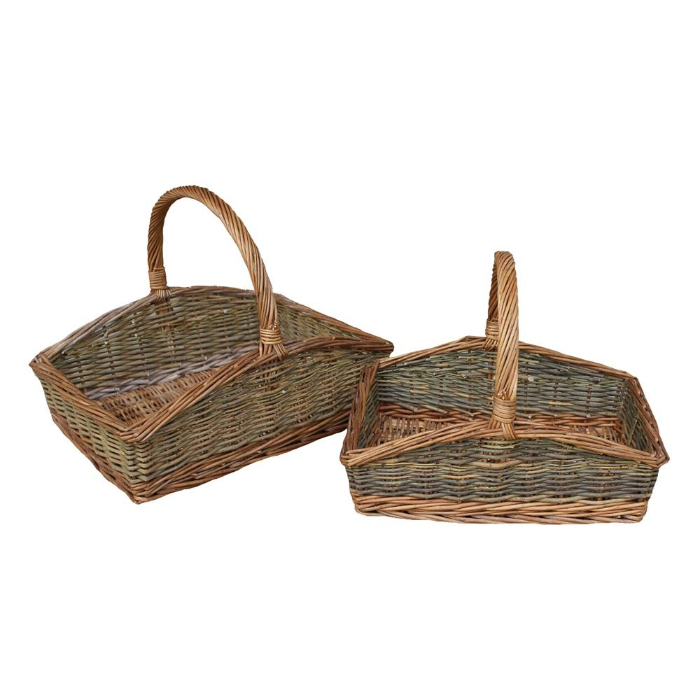 Rectangular Country Unpeeled Garden Trug