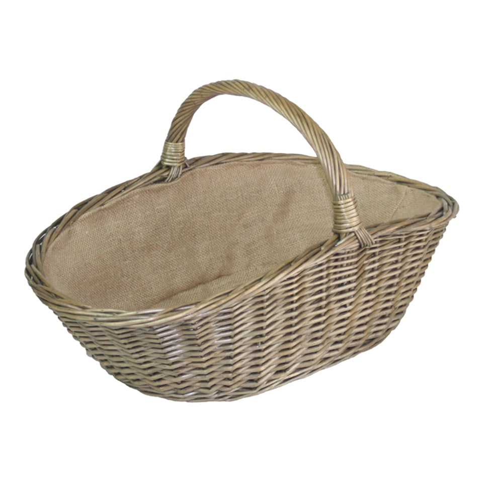 Antique Wash Harvesting Wicker Basket
