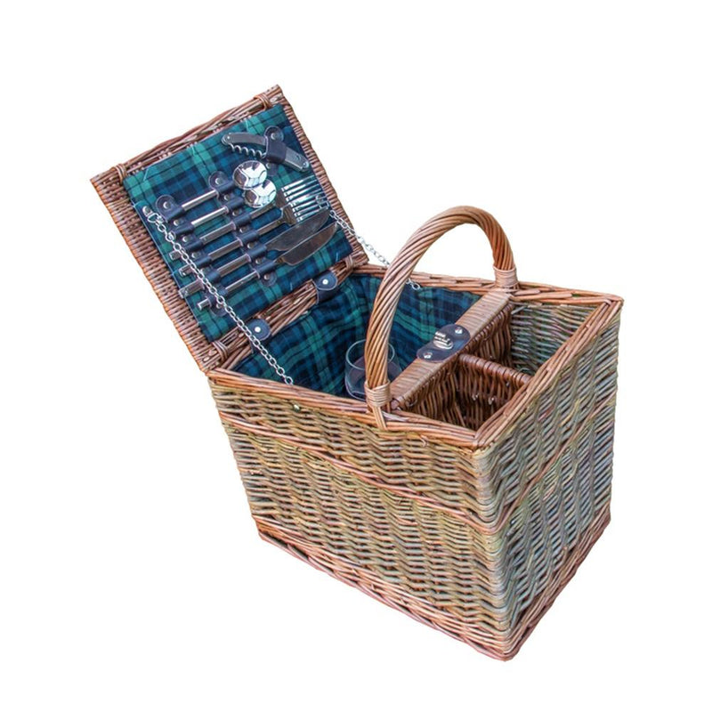Lambourn Three Tone Fitted Wicker Picnic Basket
