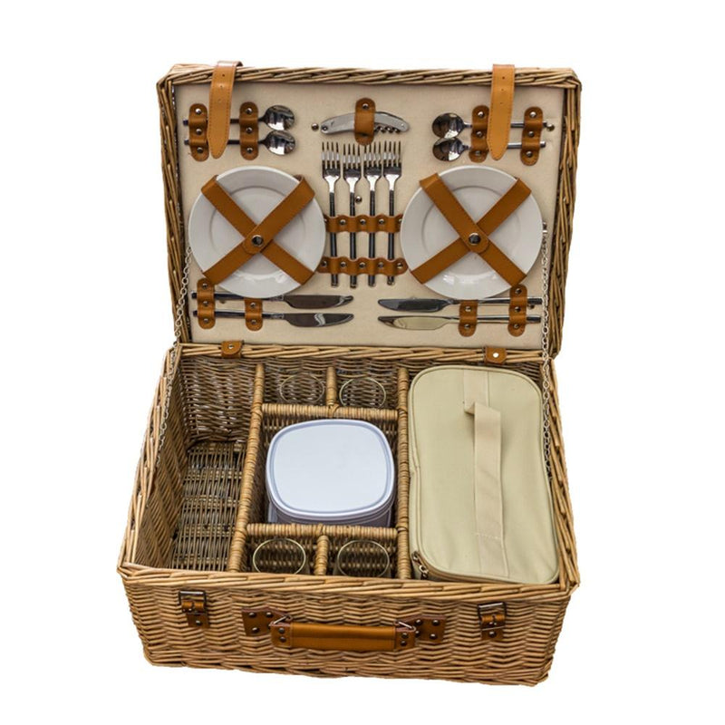 Blenheim Deluxe Fitted Wicker Picnic Basket