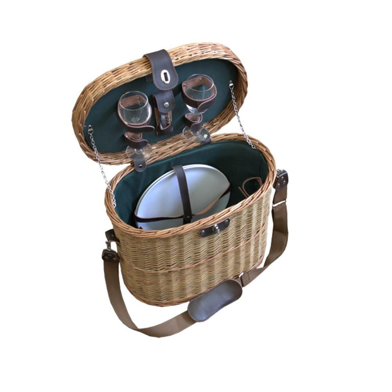 Ramblers Fitted Wicker Picnic Basket