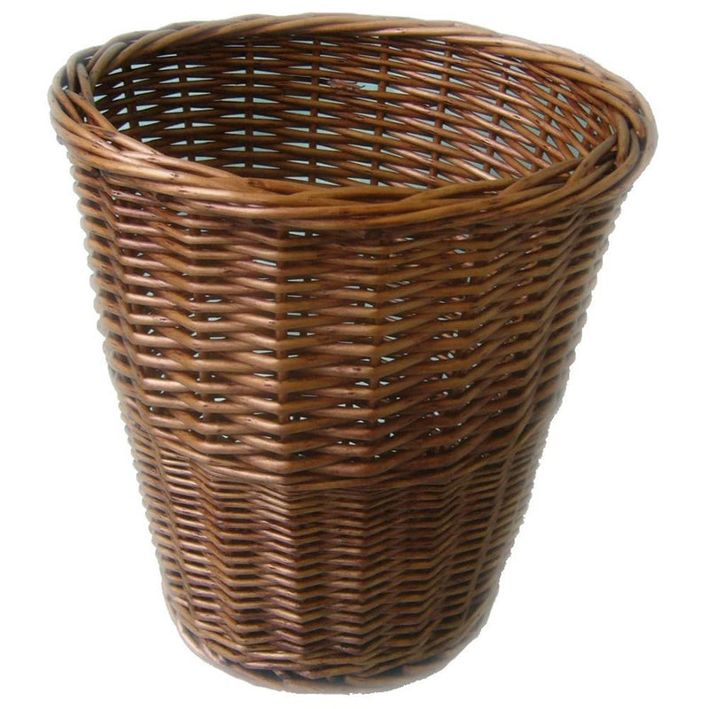 Light Steamed Wicker Waste Paper Bin
