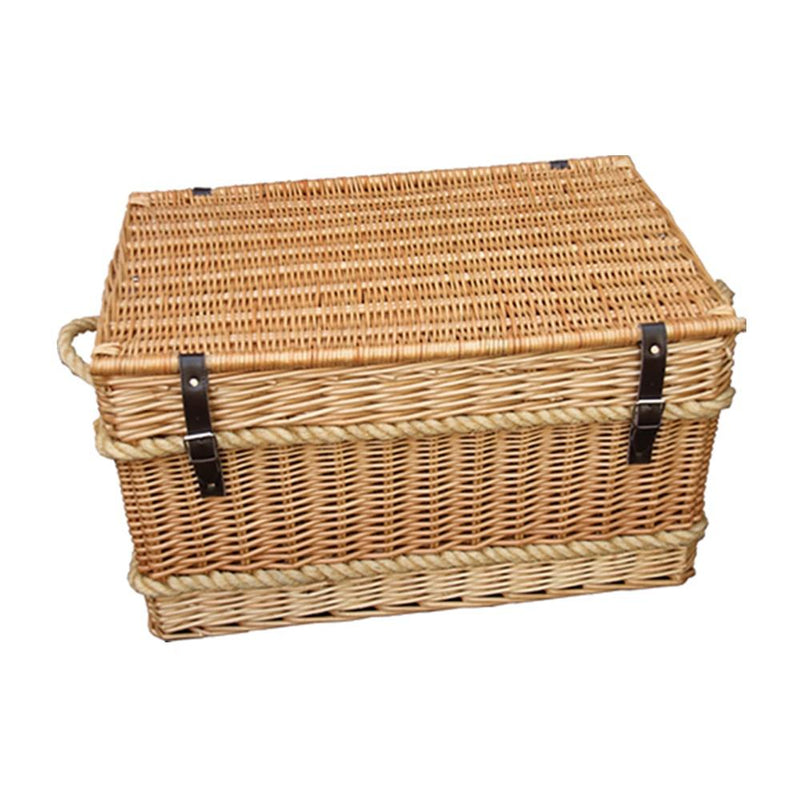 Rope Handled Trunk 73cm Empty Picnic Basket