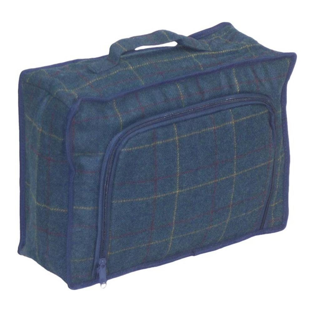 Blue Tweed Cooler Picnic Bag