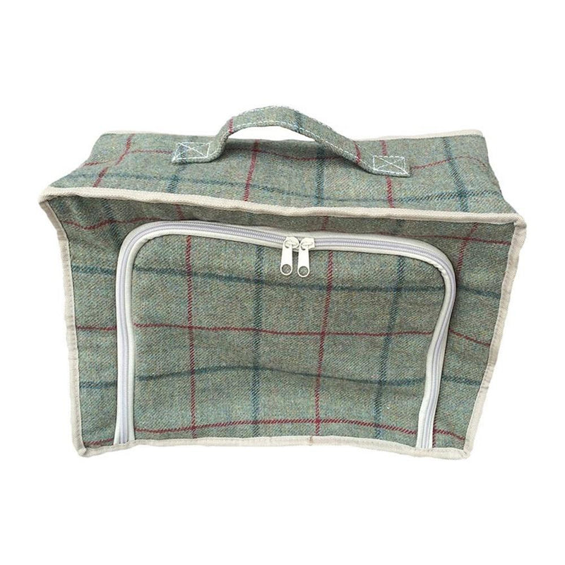 Green Tweed Cooler Picnic Bag