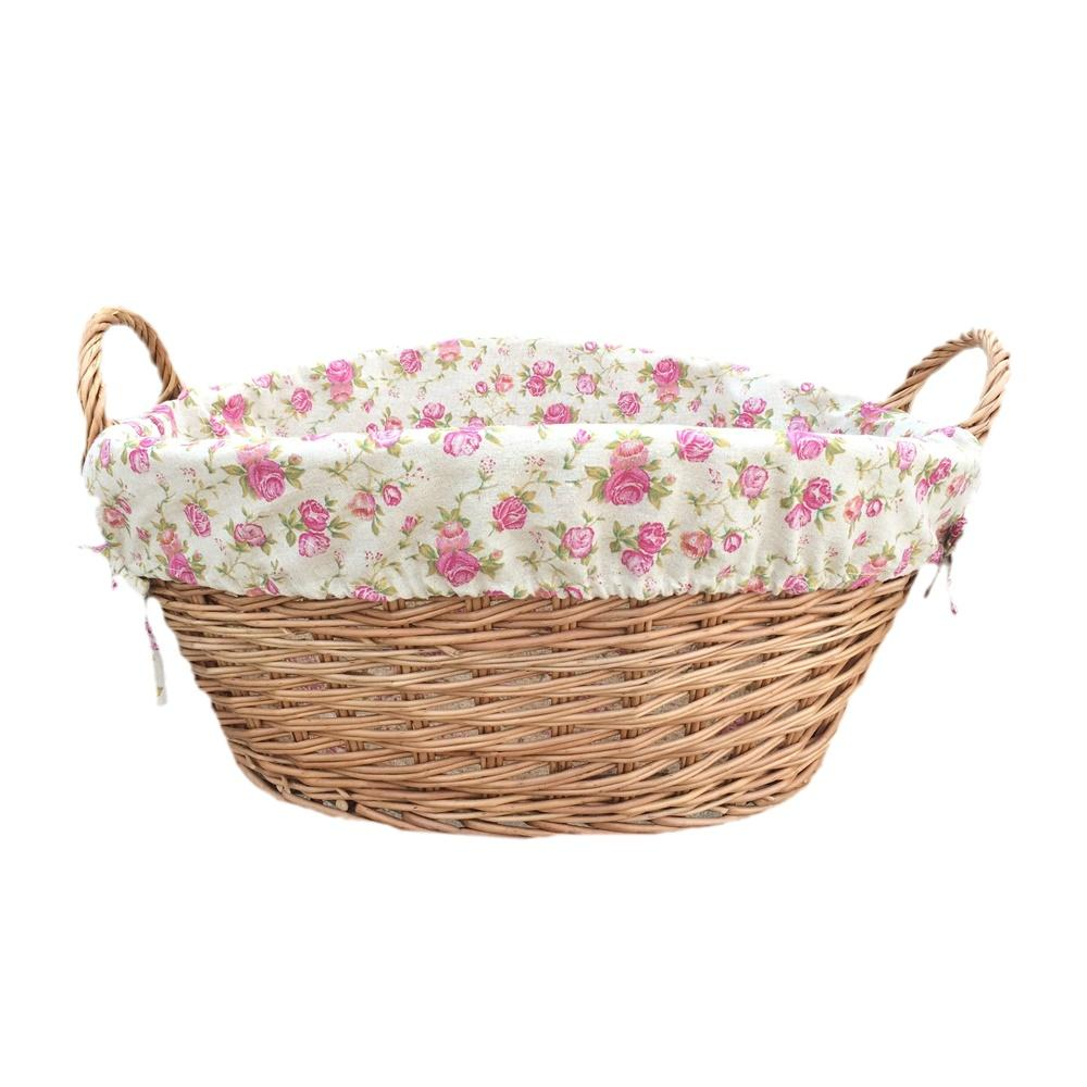 Light Steamed Lined Wash Basket