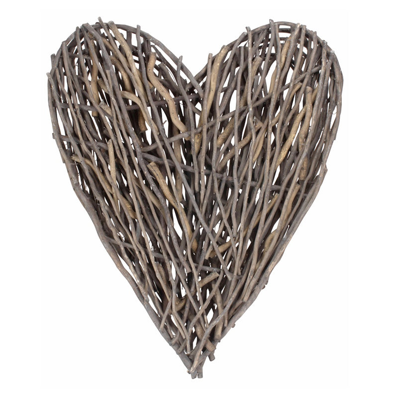 Rustic Willow Heart Décor