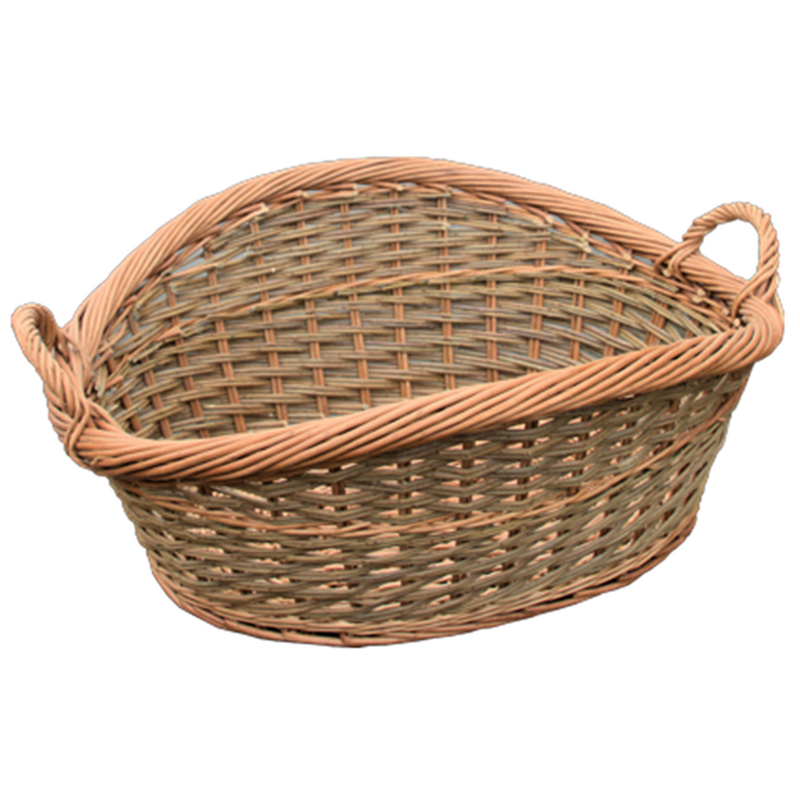 Roll Top Loose Weave Wicker Wash Basket