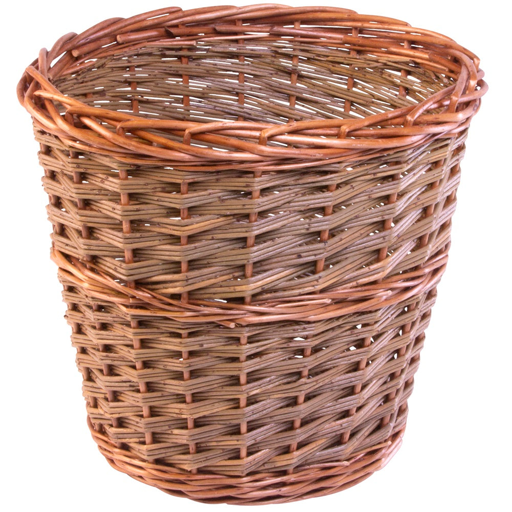 Small Somerset Round Wicker Waste Paper Bin