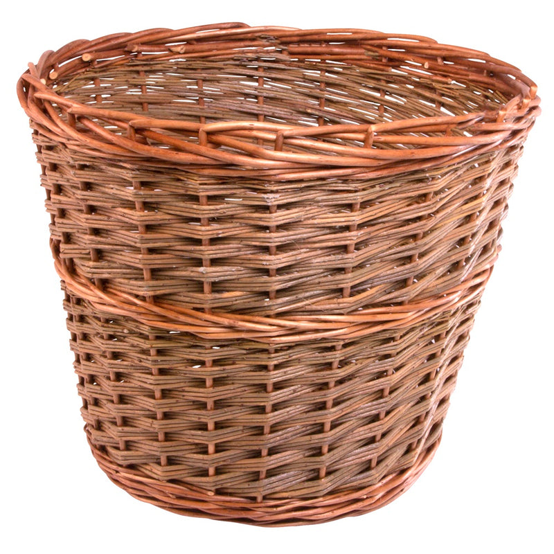 Large Somerset Round Wicker Waste Paper Bin