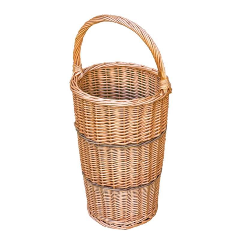 Umbrella Walking Stick Wicker Basket with Handle