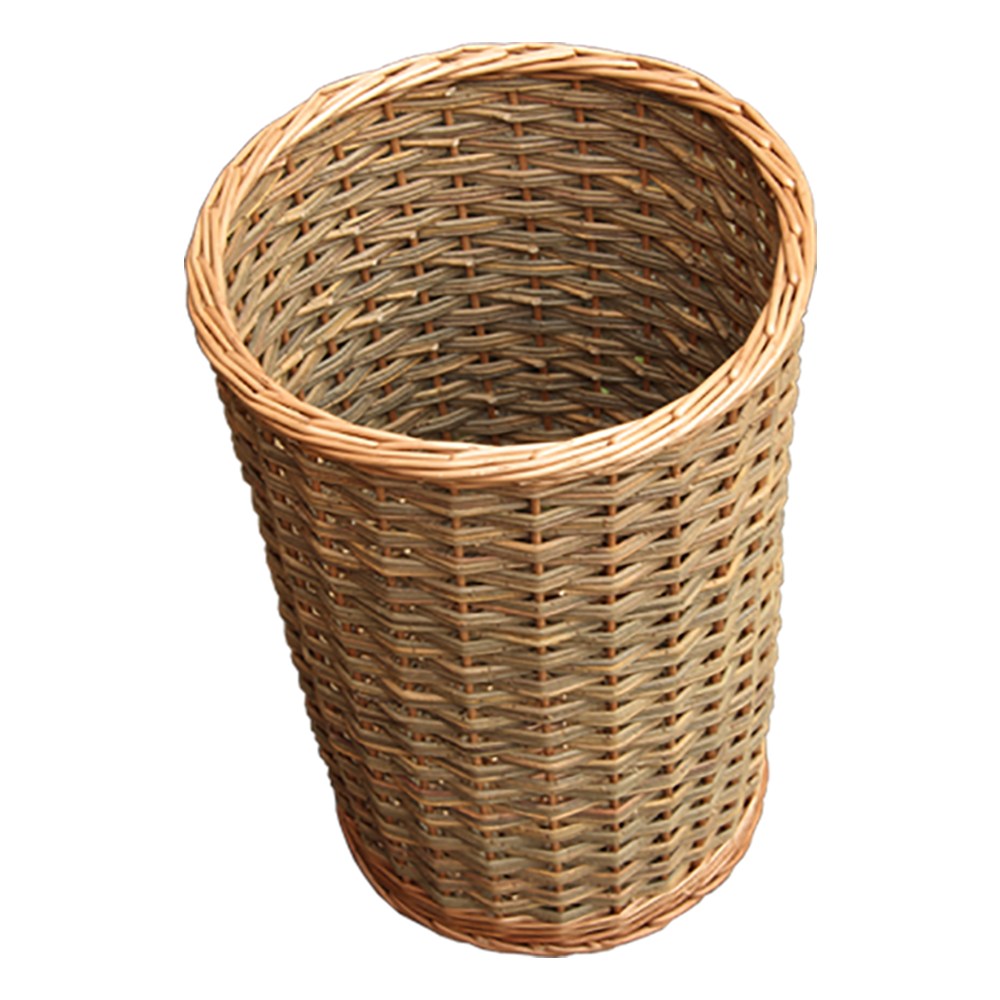 Round Hallway Umbrella Walking Stick Wicker Basket
