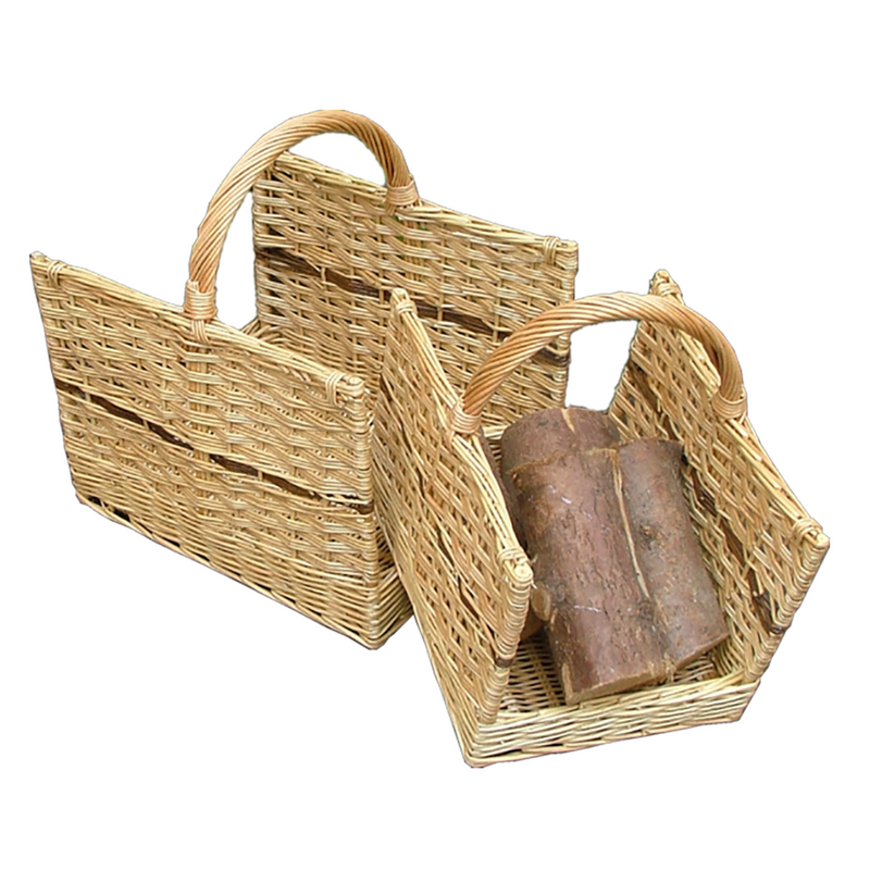 Set of 2 Open End Log basket