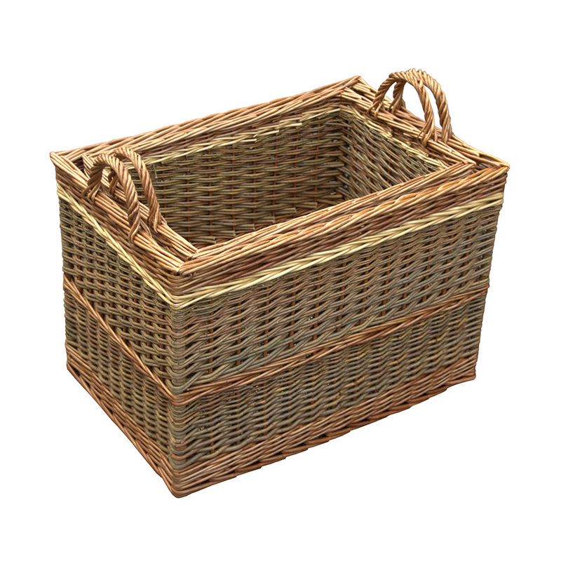 Set of 2 Buttermere Large Log basket