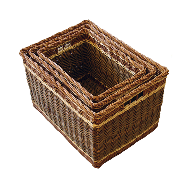 Set of 3 Windemere Log basket
