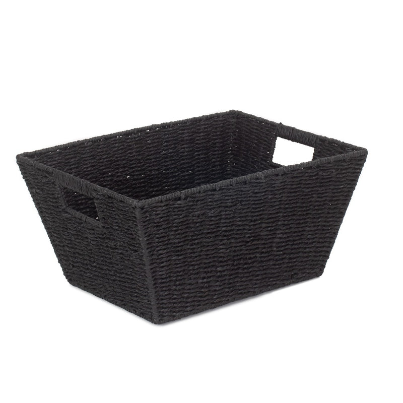 Large Black Paper Rope Deep Tray