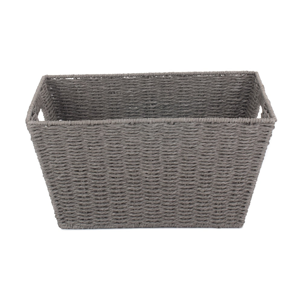Large Grey Paper Rope Deep Tray