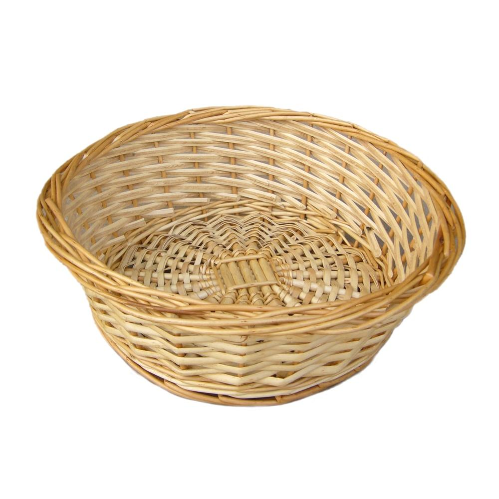 Split Willow Round Wicker Tray