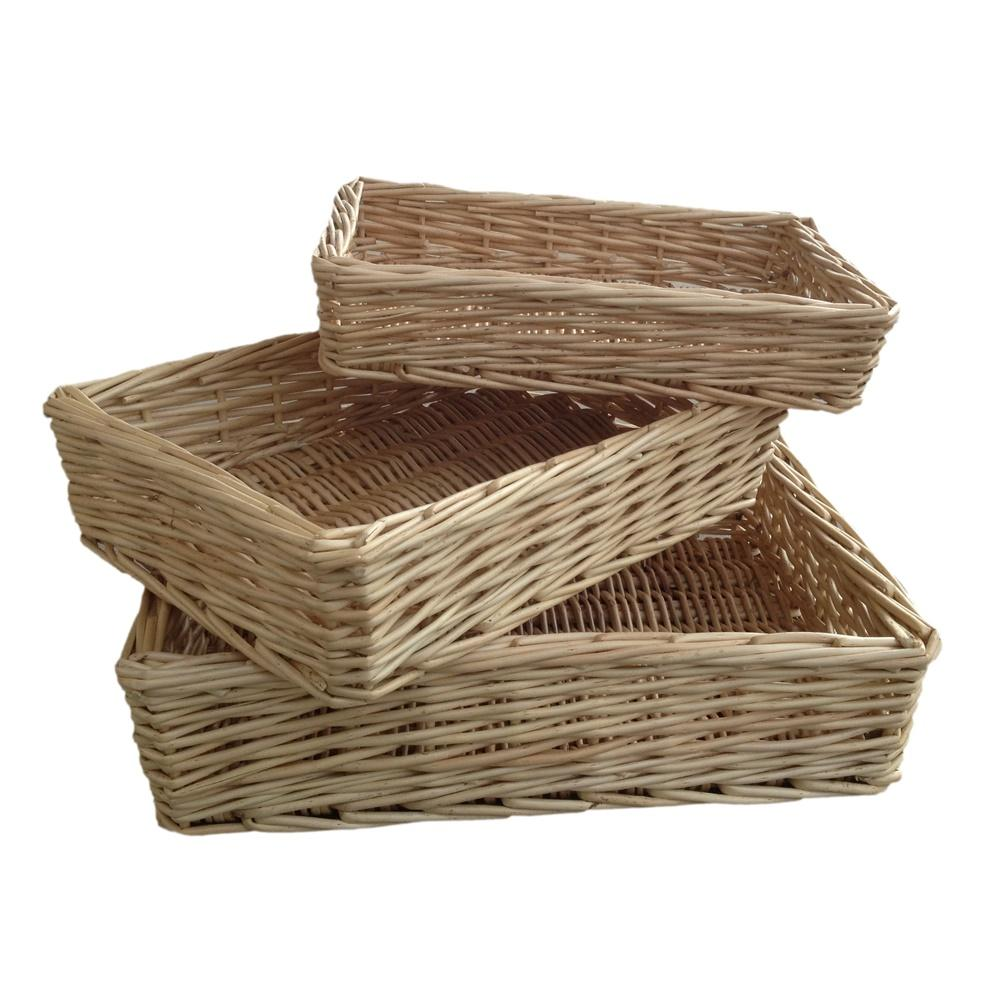 Rectangular Straight-Sided Wicker